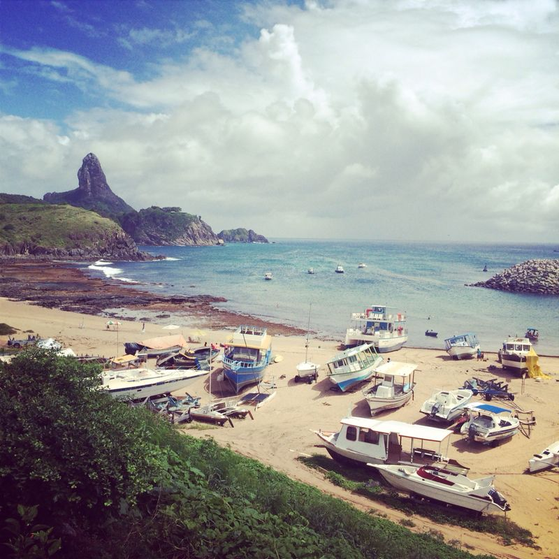 Praia do Porto, Fernando de Noronha. Foto por site Quero Harmonia.